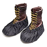 ARUNNERS 1 Pair Fracture Walking Boots Cam Air Cast Brace AirCast Orthopaedics Shoe Covers Waterproof Heavy Duty Non Slip Bottom Durable Weather Dry Protect Contractors Men Women (L, Black)