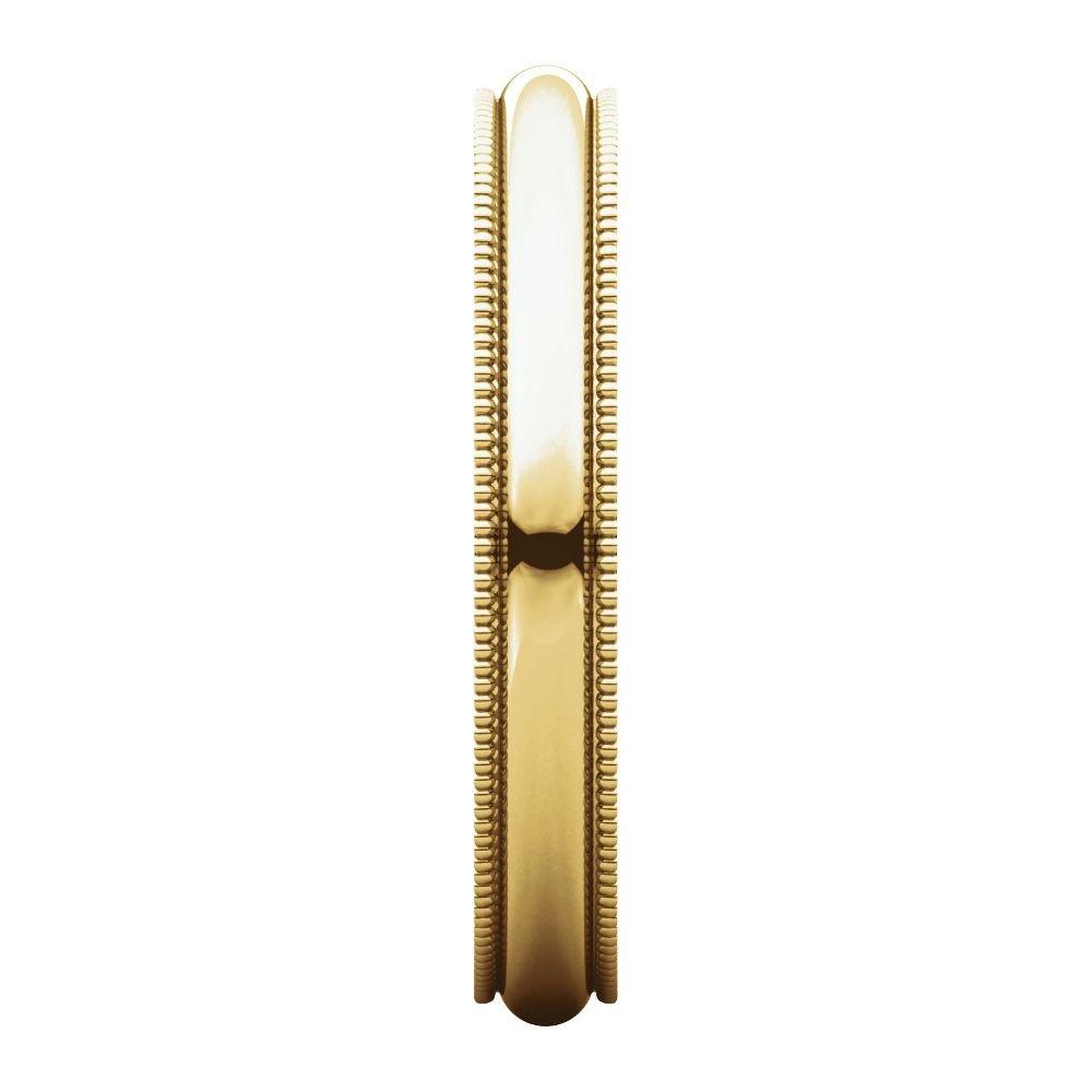 14K Yellow Gold 3mm Milgrain Band