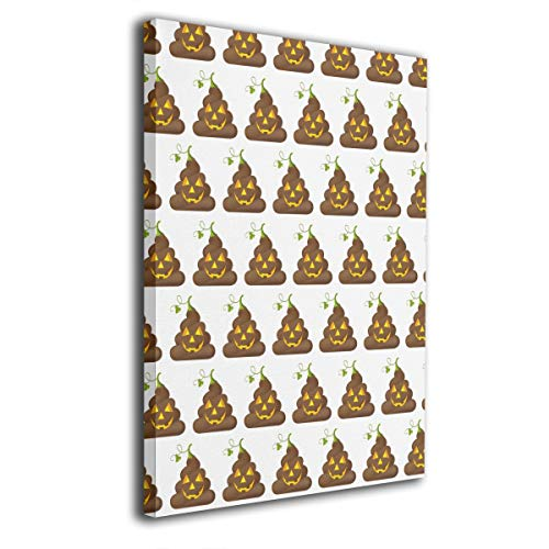 Warm-Tone Art Halloween Poop Emojis Canvas Prints Wall Art Oil Paintings for Living Room Dinning Room Bedroom Home Office Modern Wall Decor 16x20 Inch