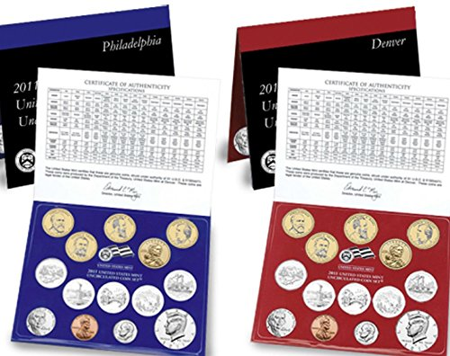 (2011 P D US Mint Set 28 Coins in Original Packaging Brilliant Uncirculated )