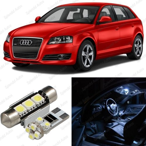 Splendid Autos Xenon WHITE LED Audi A3/S3 8P Interior Package Deal 2006 - 2011 (9 Pieces)](Audi A3 Interior)