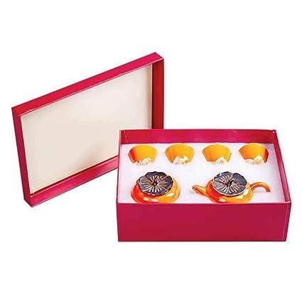 Amazon com | Ruyi Tea Set Ceramic Persimmon Teapot Teacup