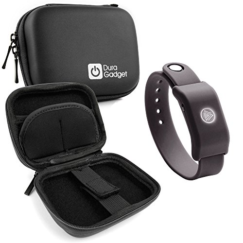DURAGADGET Black Hard EVA Shell Case with Carabiner Clip & Twin Zips for The SoundMoovz Musical Bandz