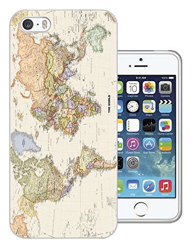 178 - Cool Fun World Map The World Look Design iphone SE - 2016 Fashion Trend Protecteur Coque Gel Rubber Silicone protection Case Coque