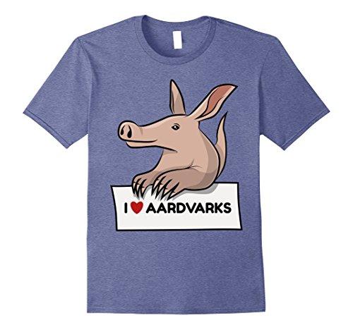 Mens I Love Aardvarks T-shirt Ant Bear Anteater Fun Cute Animal 2XL Heather - T-shirt Aardvark