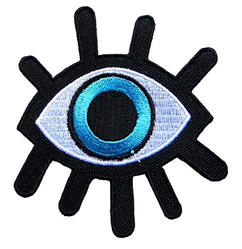 Beautiful Devil Evil Monster Eye Biker Punk Rock Bags Jackets Jeans Embroidered Iron on Patch Free Shipping