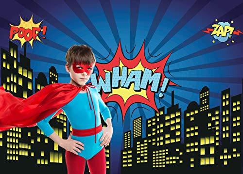 Dudaacvt 7x5ft Super City Photography Backdrop Superhero Birthday Party Photography Backdrop City Building Studio Prop -