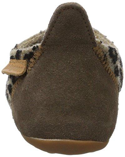 Bisgaard Wool Basic - Pantuflas Unisex Niños Mehrfarbig (173 Brown-Leopard)