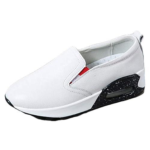 Mujer Pisos Plataforma Mocasines Primavera OtoñO Shallow Slip-On Air Walking Ladies Low Wedges Zapatos Deportivos A Prueba De Agua: Amazon.es: Zapatos y ...