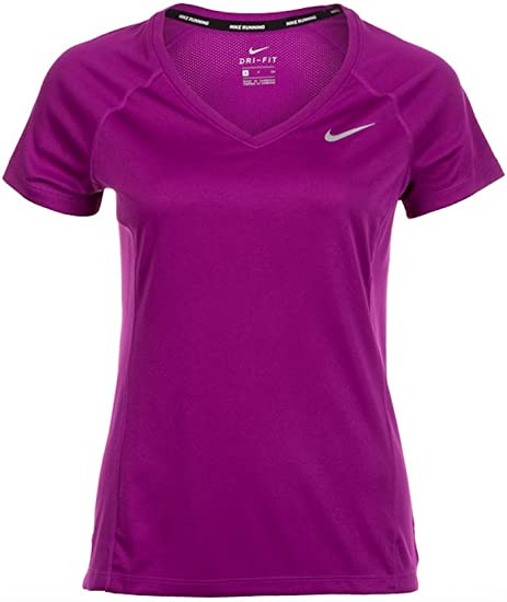 T Shirt Nike Femme Dri Fit Miler col V Nike FEMME