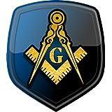 ProSticker 106 (One) 10.1cm Masonic Series Freemason compass Shield Decal Sticker