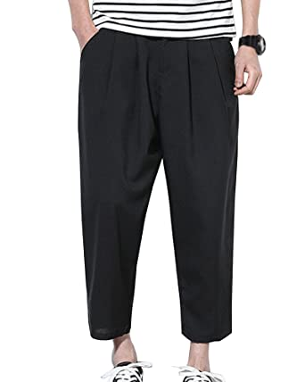 12957774d1d8 Mens Lightweight Pants Summer Casual Linen Trousers Holiday Beach   Amazon.co.uk  Clothing