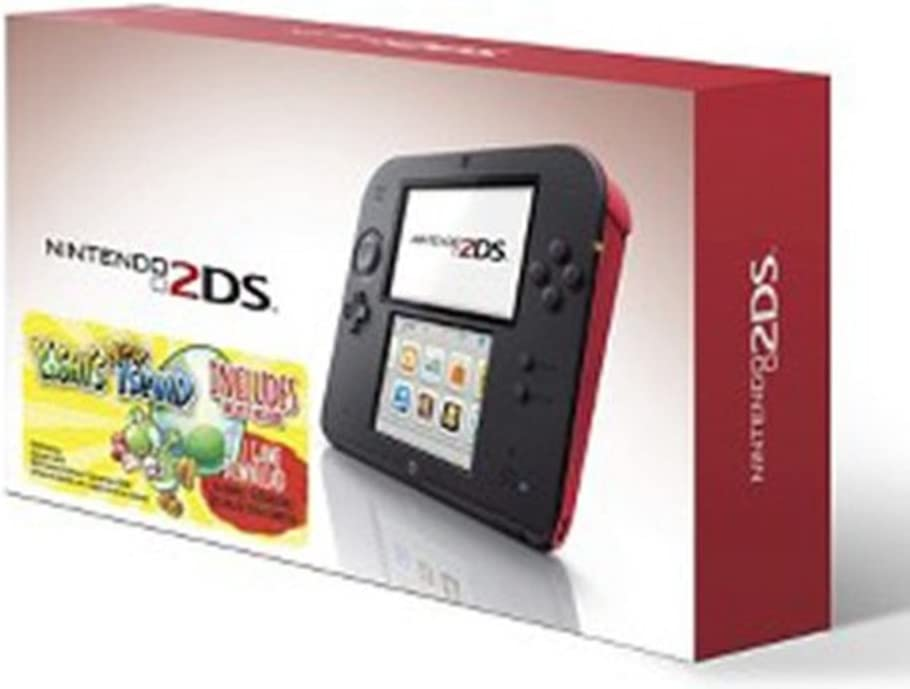 Nintendo 2DS Red Console with Yoshi s New Island Game