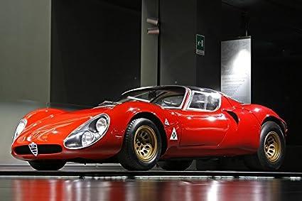 Amazoncom LAMINATED POSTER Alfa Romeo Veteran Museum Milan Racing - Alfa romeo posters