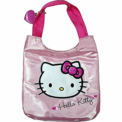 ac2202889 Image Unavailable. Image not available for. Color: Sanrio Hello Kitty Tote  Metallic Pink Handbag ...