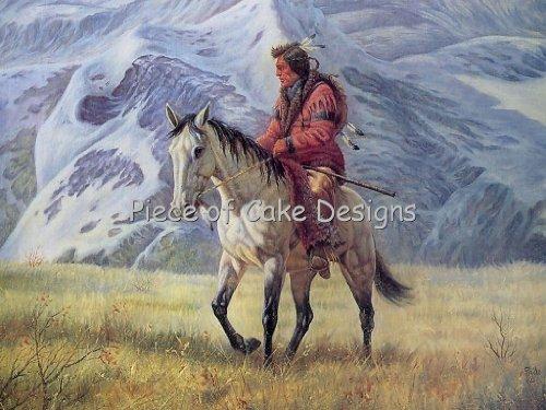 1/8 Sheet ~ American Indian On Horse Birthday ~ Edible Image Cake/Cupcake Topper!!!