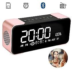 Wireless Clock Radio Bluetooth Speaker with Alarm Clock Radio / LED Display / Dual Speakers / TF Card, Loudspeakers Super Bass for Android / iPad / iPhone Bluetooth 4.2 Hi-Fi Speaker