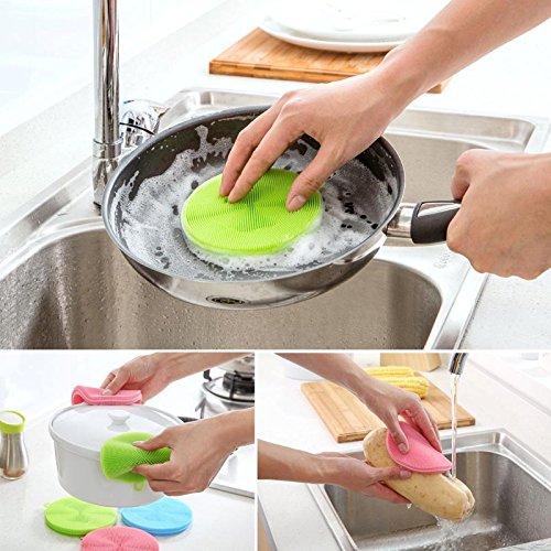 (3pcs) smartlife Silikon reinigungsbürsten Kaffee - Pads schüssel schüssel Reinigen Matte Pad - Pan - Waschen, Putzen