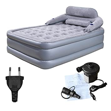 Heavy Duty Air Mattress >> Amazon Com Zaqi Large Double Queen Size Air Bed For Indoor