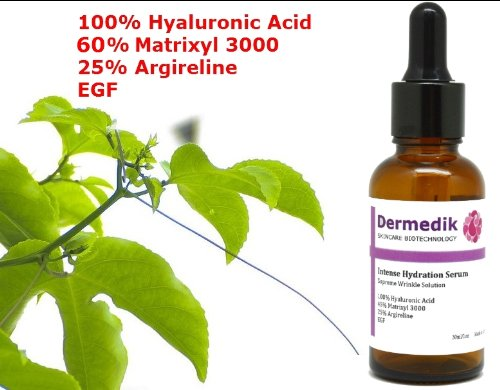 60% MATRIXYL 3000 + 25% ARGIRELINE + HYALURONIC ACID + EGF SERUM ANTI WRINKLES 1oz/30ml