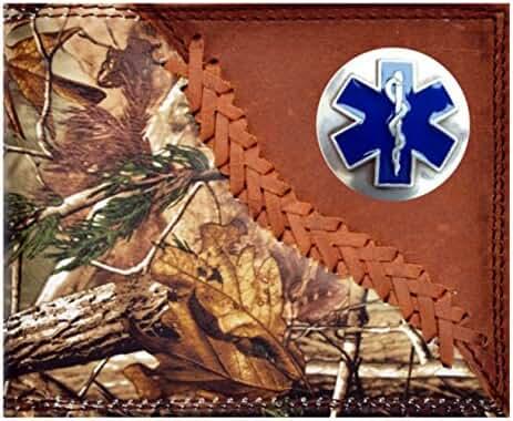 Custom Badger EMT, EMS, Cross of Life Long Wallet Hand Tooled