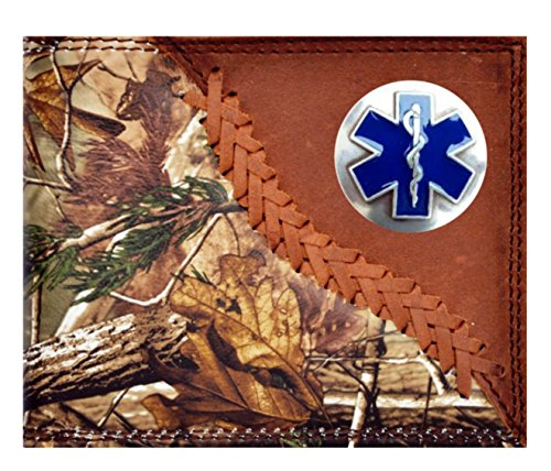 Hand Brown EMS New Wallet of Cross Badger Tooled Custom Long EMT Life Ozfw7nFq6