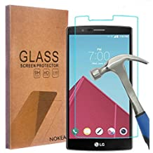 LG G4 Screen Protector, NOKEA [Tempered Glass] with [9H Hardness] [Crystal Clear] [Easy Bubble-Free Installation] [Scratch Resist] (for LG G4)