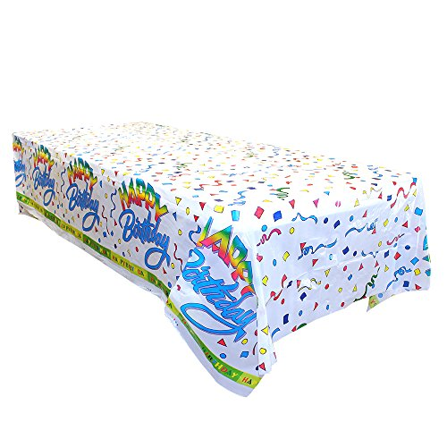 12-pc Pack Table Cover 54X108 Happy (Birthday Table Cover)