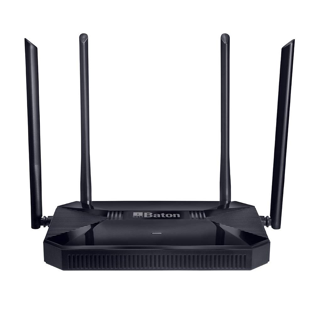 iBall Baton iB-WRD12GN, 1200M Mesh Gigabit Dual Band Wireless AC Router, (Black)