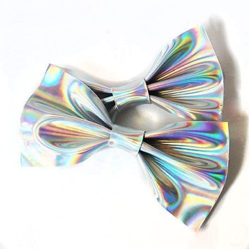 Leather Hologram Holographic Hair bow Clips Set /Hair clips/ Hair Accessories/ Hair bows/