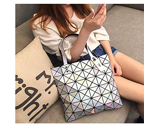 Shopper Bao Spalla Donne Pieghevole Tracolla Geometry Sacchetti Di Brown Diamond Tote Lattice Shimmer Colori A 15 Ivory Laser Borsa avORntqwx