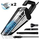 Hantun Car Vacuum, Portable Handheld Car Vacuum, 5000pa Powerful Suction Lightweight Auto Vacuum Cleaner for Wet and Dry Cleaning, Black