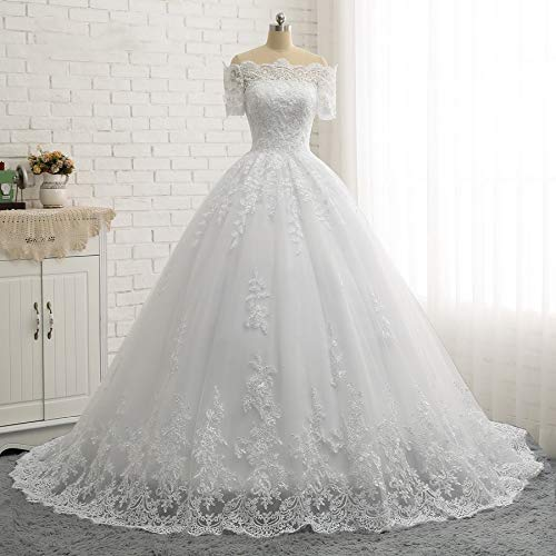 50% price vast selection fashion styles Amazon.com: Princess Off Shoulder Lace Bridal Anniversary ...