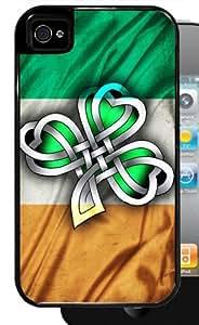 Irish Flag with Celtic Clover - Black iPhone 5c,5c Dual Protective Case
