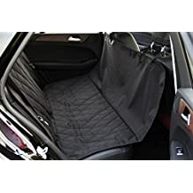 """INNX Dog Seat Cover, Quilted Hammock Bench Pet Seat Cover for Sedan Cars, Trucks, SUVs or Minivans, Waterproof (Quilted Ballistic Hammock, Black, 58""""Lx54""""W)"""