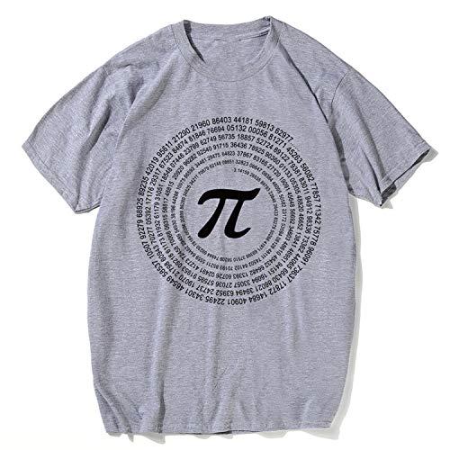e42492e68ba JIESENGTOO Novelty Pi Math T-Shirts Men s Cotton Loose Short Sleeve Tee  Shirts Geek Casual