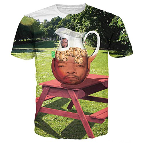 T-shirt 3D Print Mr. T Ice-T With Ice Cubes Funny Short Sleeves (L)]()