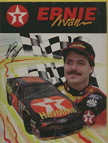 - Ernie Irvan - NASCAR Authographed 9 x 11 Photo Card