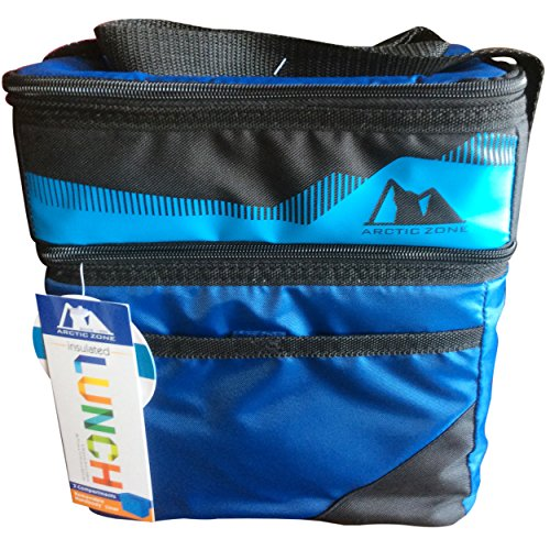 Compartment Zone Dual Work (Arctic Zone Dual Compartment HardBody Lunch Pack with Non-adjustable Shoulder Strap (Blue))
