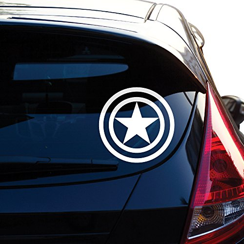 Yoonek Graphics Captain America Decal Sticker for Car Window, Laptop, Motorcycle, Walls, Mirror and More. # 459 (4