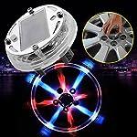 sedeta 4 Mode 12 LEDs Solar Energy Wheel Light Lamp Decorative Flashing Colorful LED Tire Lighting Wheel Tire Air Valve...