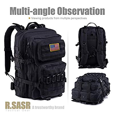 R.SASR Upgrade Tactical Backpack Waterproof, Military Molle Backpack, Army Backpack, 3 Day Assault Pack Molle Bug Out Bag, Large Assault, Ideal for Hiking, Camping, Trekking, Outdoor and Hunting.