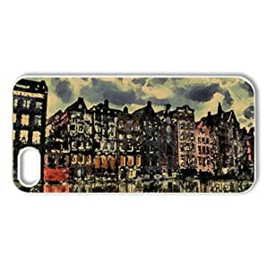 City HDR 3 Watercolor style Cover iPhone 5 and 5S Case (Netherlands Watercolor style Cover iPhone 5 and 5S Case)