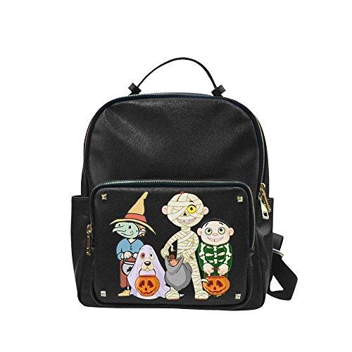 [Navarro Halloween October 31 Jack O Lantern Unisex Leisure Backpack School Leisure Shoulder Bag] (Lock Shock And Barrel Costumes For Kids)