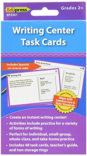 Edupress Literacy Center Task Cards, Writing, Grade 2+ (EP63361)
