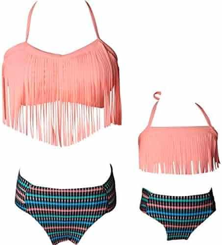 KABETY Girls Rainbow Unicorn Swimsuit Two Pieces Swimwear