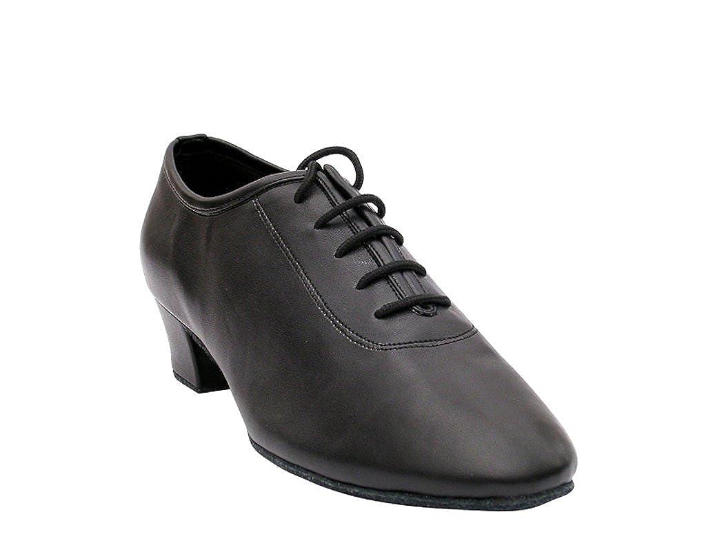 Very Fine Men's 2302 Black Leather (Ballroom Salsa Tango Latin & Rhythm) Dance Shoes 1.5 Heel