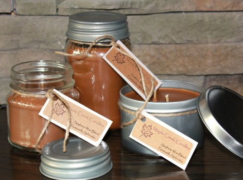 Caramel Apple 16 Oz Jar - Maple Creek Candles CARAMEL APPLE ~ Sweet and Tart Aroma ~ Soy Wax Blend 16oz jar candle
