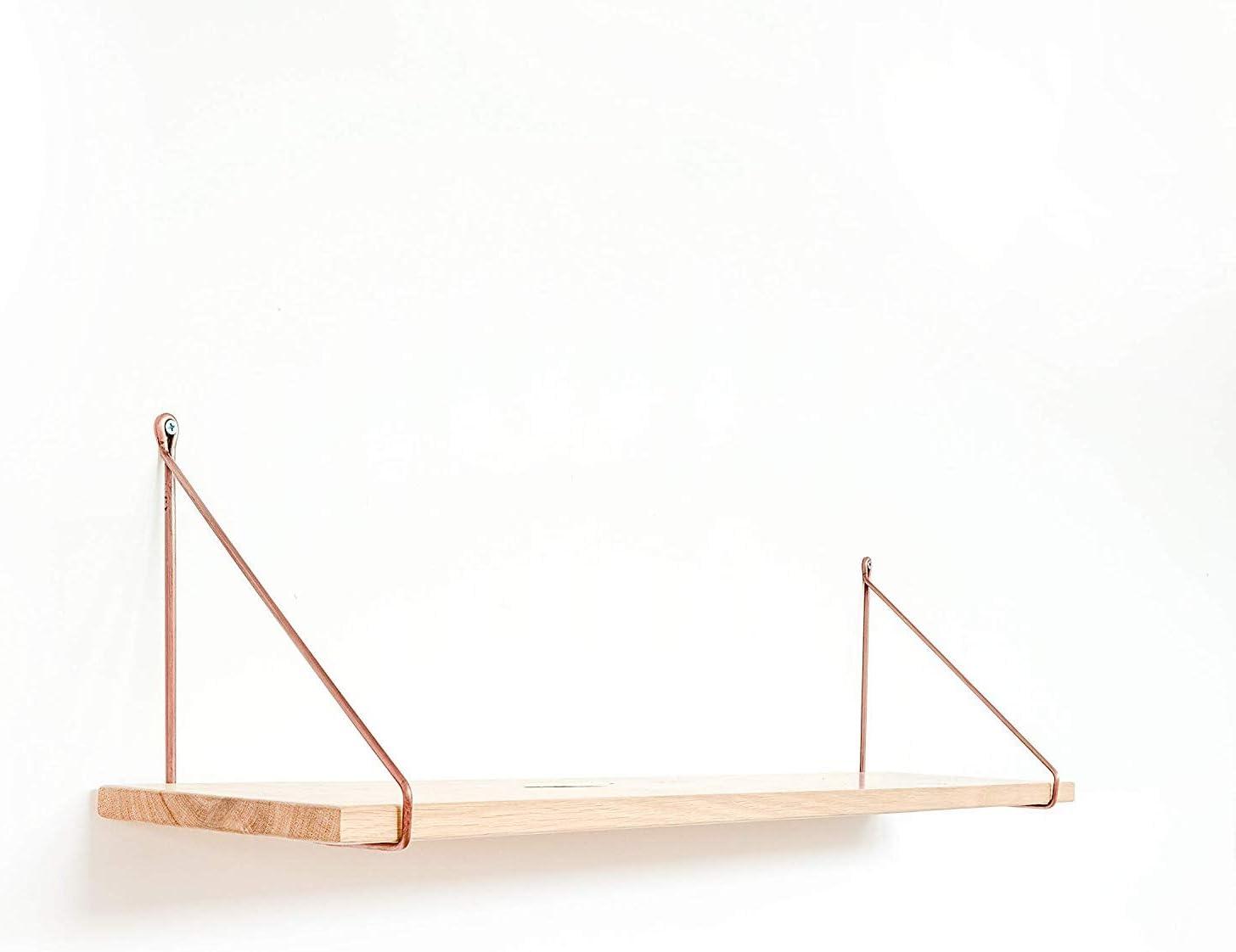 250mm, Antik Gold Design Regaltr/äger Wandregal Regalst/ütze Metall Konsole Draht 2x Natural Goods Berlin Regalhalter Pankow H/ängeregal