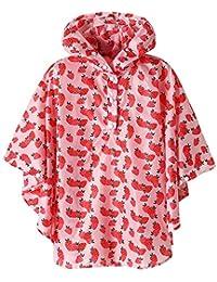 SaphiRose Waterproof Kids rain Jacket Coat Strawberry Large